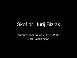 Škof dr. Jurij Bizjak