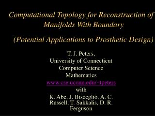 Computational Topology for Reconstruction of