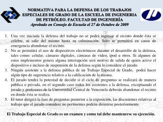 UNIVERSIDAD CENTRAL DE VENEZUELA FACULTAD DE INGENIERÍA ESCUELA DE PETRÓLEO