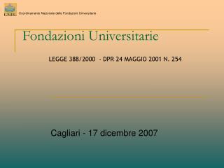 Fondazioni Universitarie