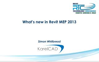 What's new in Revit MEP 2013