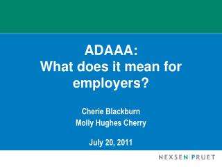 ADAAA:   What does it mean for employers