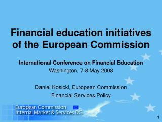Financial education initiatives of the European Commission