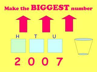 Make the BIGGEST number