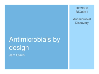 Antimicrobial resistance and rational use of antimicrobial agents