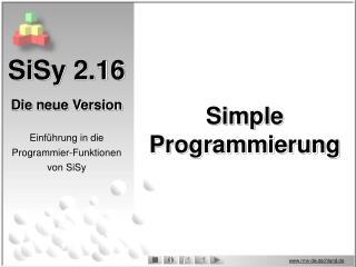 SiSy 2.16 Die neue Version