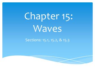 Chapter 15: Waves