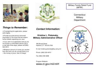 Military Family Relief Fund MFRF