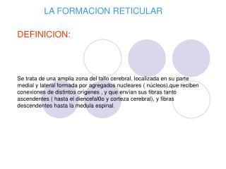LA FORMACION RETICULAR