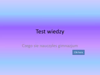 Test  wiedzy