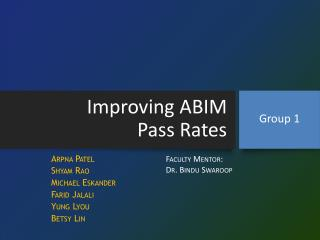 Improving ABIM  Pass Rates
