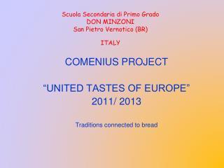 Scuola Secondaria di Primo Grado DON MINZONI  San Pietro Vernotico (BR) ITALY