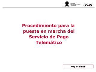 Procedimiento para la puesta en marcha del Servicio de Pago Telemático