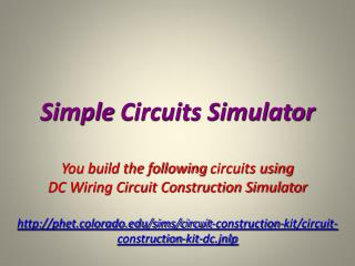 Simple  Circuits Simulator
