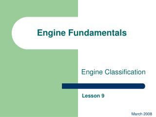Engine Fundamentals