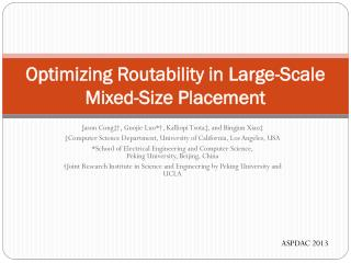 Optimizing Routability in Large-Scale  Mixed-Size Placement
