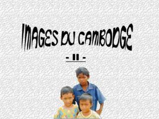 Au  sud de Siem Reap se trouve le Tonle Sap, le