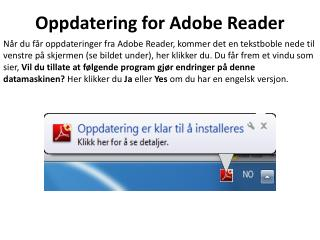 Oppdatering for Adobe Reader