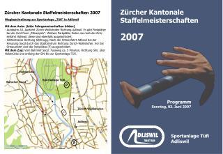 Zürcher Kantonale Staffelmeisterschaften 2007