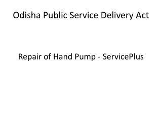 Odisha  Public Service Delivery Act