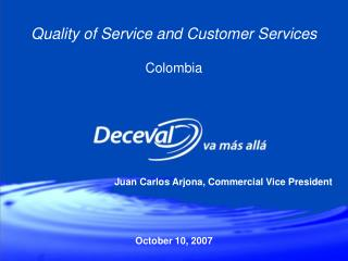 Quality of Service and Customer Services