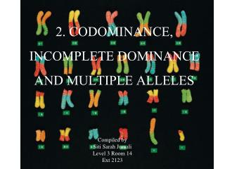 2. CODOMINANCE, INCOMPLETE DOMINANCE AND MULTIPLE ALLELES