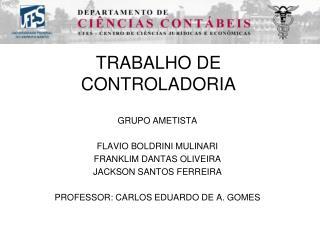 TRABALHO DE CONTROLADORIA