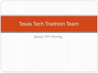 Texas Tech Triathlon Team