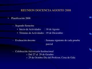 REUNION DOCENCIA AGOSTO 2008