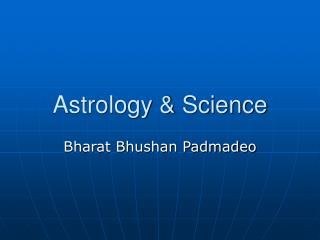 Astrology & Science
