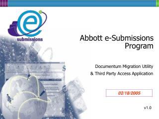 Abbott e-Submissions Program