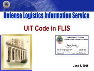 UIT Code in FLIS