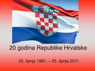 20 godina Republike Hrvatske