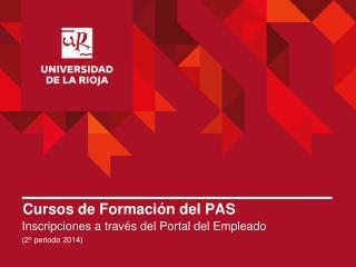Cursos de Formación del PAS