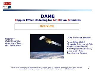 DAME D oppler Effect Modelling for  A ir  M otion  E stimates