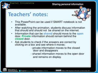 Teachers'  notes: