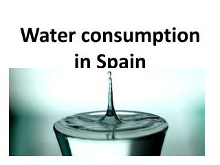 Water consumption in Spain