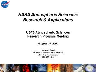 USFS Atmospheric Sciences  Research Program Meeting  August 14, 2002