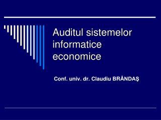 Auditul sistemelor informatice economice