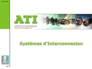 Systèmes d'Interconnexion