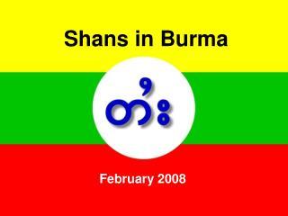 Shans in Burma