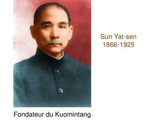 Sun Yat-sen 1866-1925