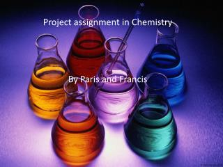 Project  assignment  in Chemistry