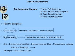 DISCIPLINARIEDADE