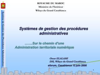 Systèmes de gestion des procédures administratives