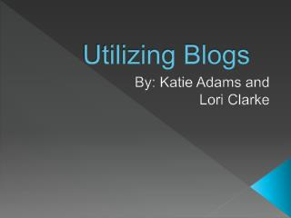 Utilizing Blogs