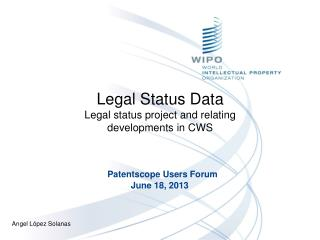 Legal Status Data Legal status project and relating developments in CWS
