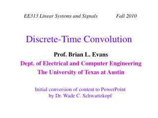 Discrete-Time Convolution