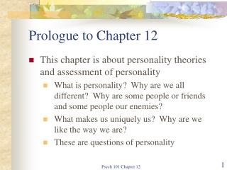 Prologue to Chapter 12
