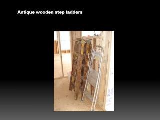 Antique wooden step ladders